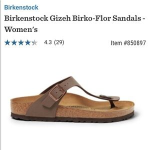Birkenstocks sz 5 brown Gizeh thong sandals